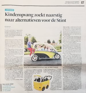 Artikel in Financieel Dagblad over fietstaxi GoCab